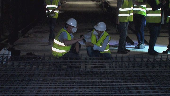 Más de 220 personas trabajan en las obras de la Línea C4 de Cercanías