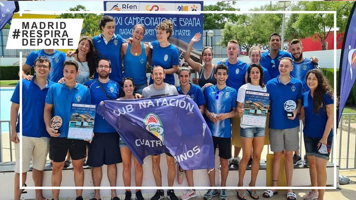 Cuatro Caminos, bronce en el Campeonato de España Máster de natación