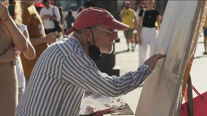 La Policía Municipal toma a Antonio López por un pintor callejero