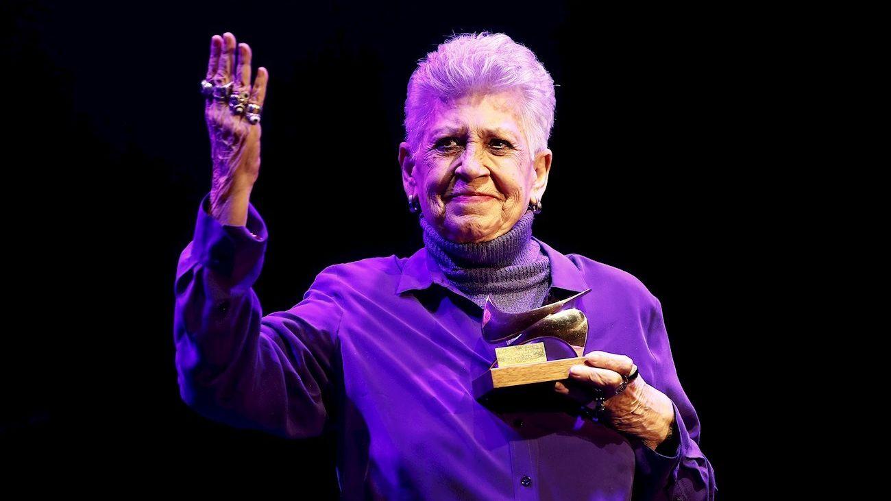 Pilar Bardem, hace un año, al recoger el premio de la Unión de Actores y Actrices