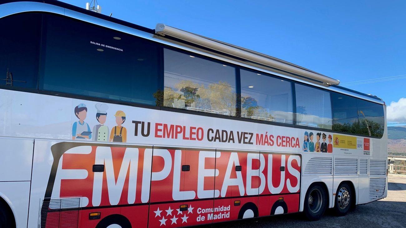 Imagen del EmpleaBus de la Comunidad de Madrid