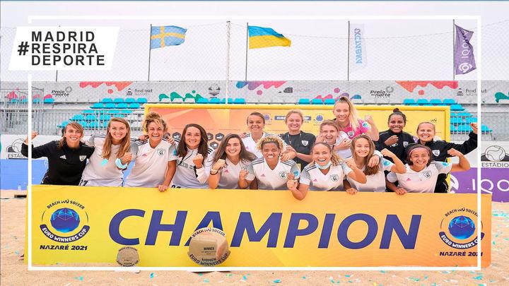 Madrid CFF, campeón de Europa de fútbol playa