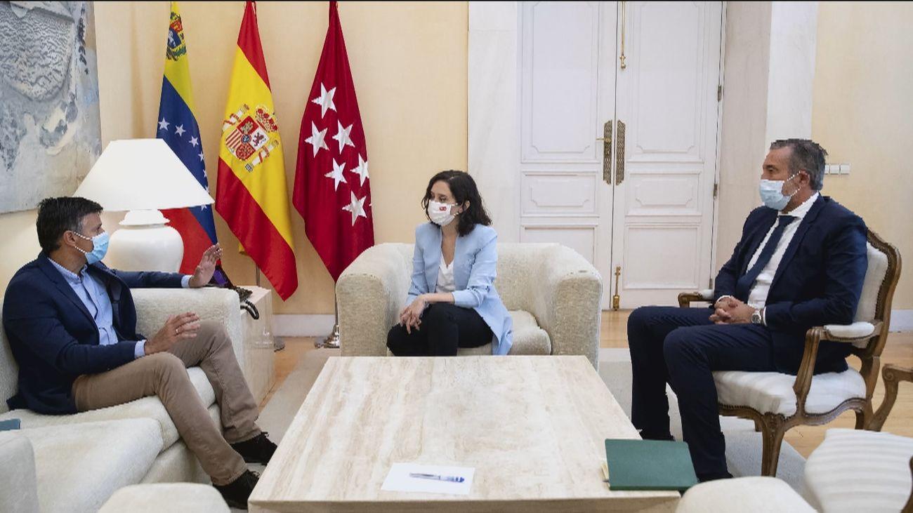 Díaz Ayuso recibe a Leopoldo López