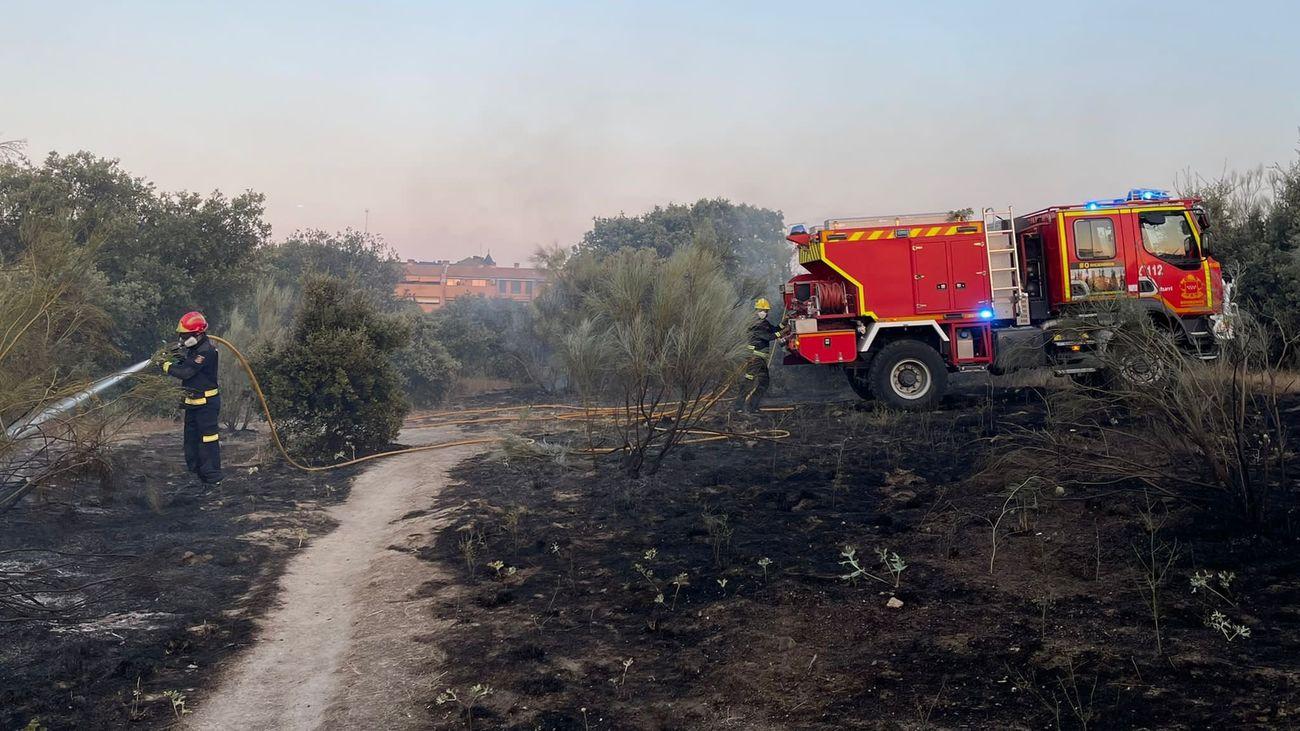 Incendio en Las Rozas