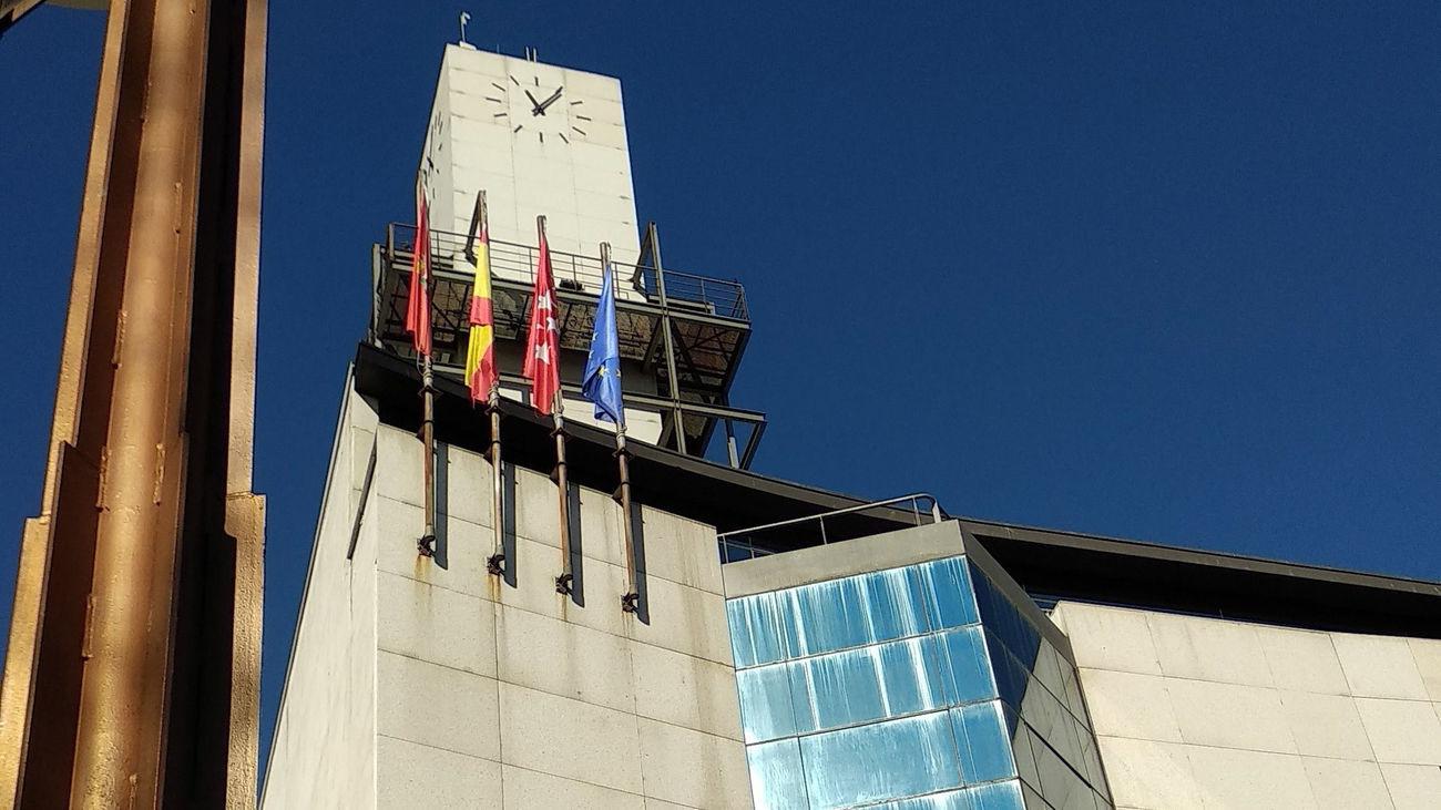 Torre del reloj en el Ayuntamiento de Getafe