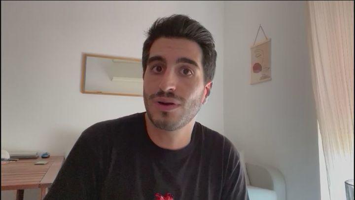"""Joaquín, de 28 años y enfermo de Covid: """"Pasé mucho miedo; pido responsabilidad"""""""