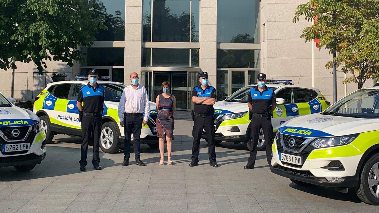 Nuevos vehículos de la Policía de Leganés