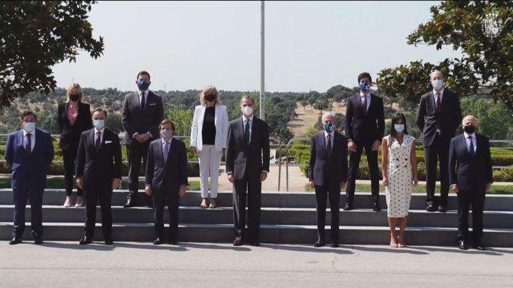 El Rey recibe a Almeida y Villacís por el aniversario de Madrid Futuro