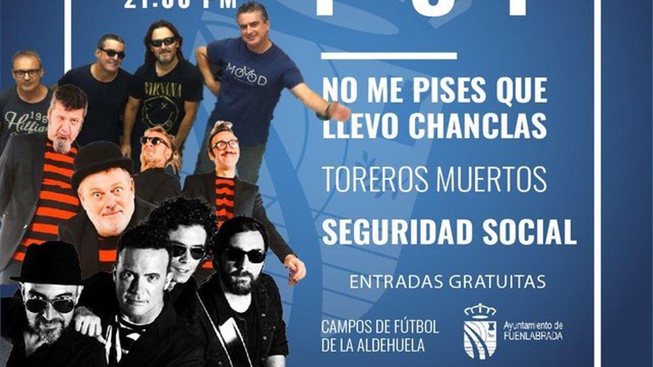 Cartel del primer concierto de las fiestas patronales de Fuenlabrada de septiembre