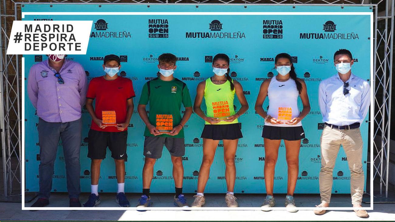 Campeones y subcampeones del Mutua Madrid Open sub'16