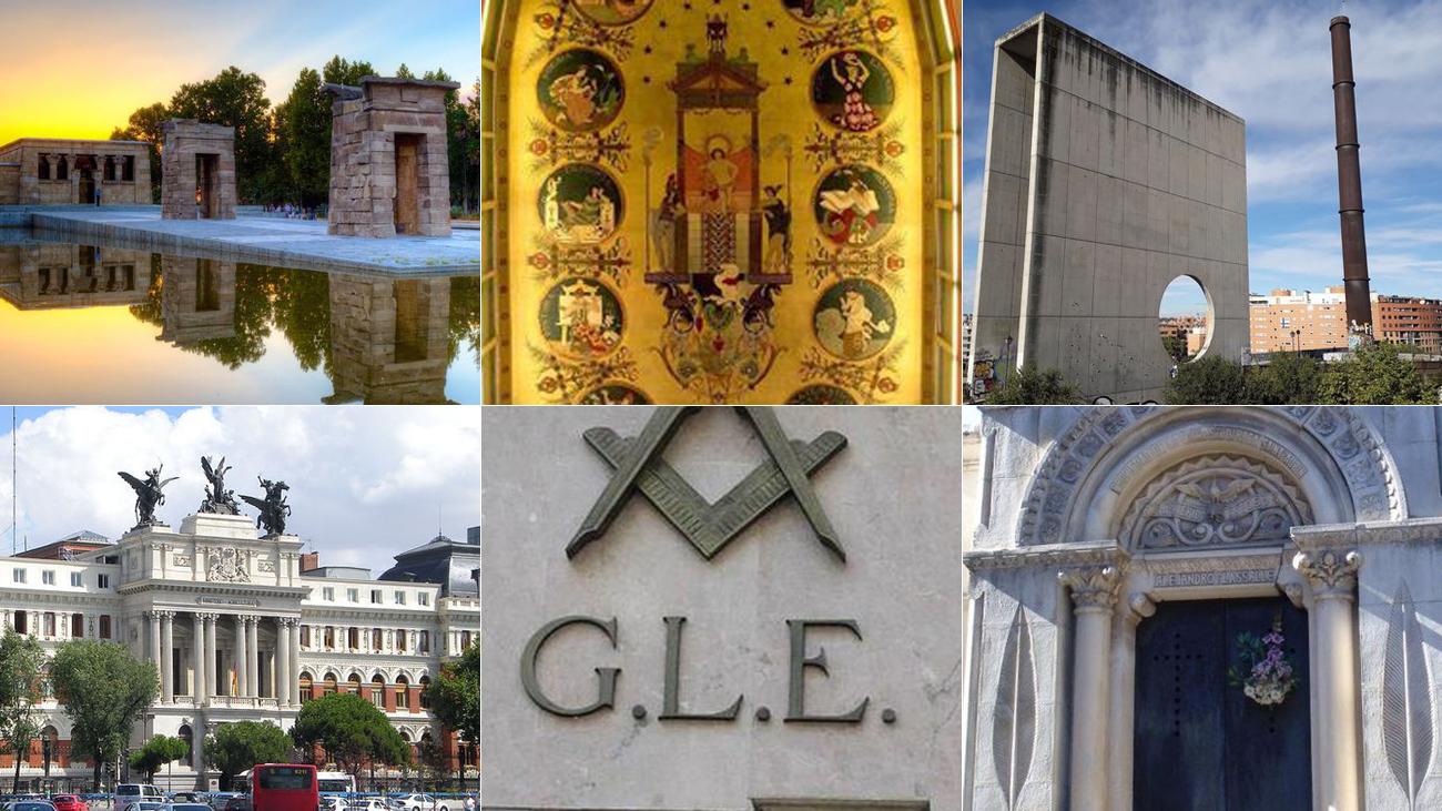 Símbolos del Madrid de los masones
