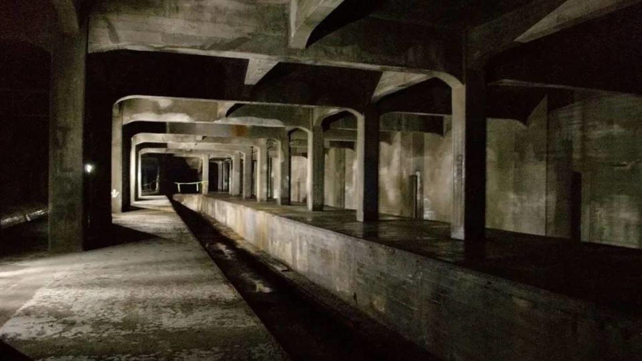 Metro abandonado en Cincinnati, Ohio