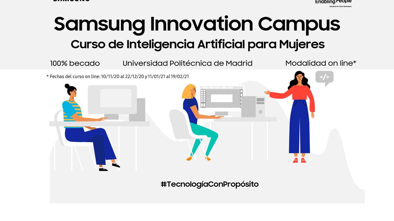 Nueva edición de formación gratuita en Inteligencia Artificial de Samsung dirigida a mujeres
