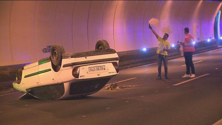 Un simulacro de accidente en los túneles del Pardo muestra el trabajo de los servicios de emergencia