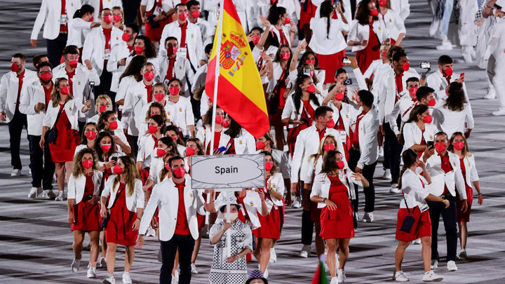 Delegación española en el desfile