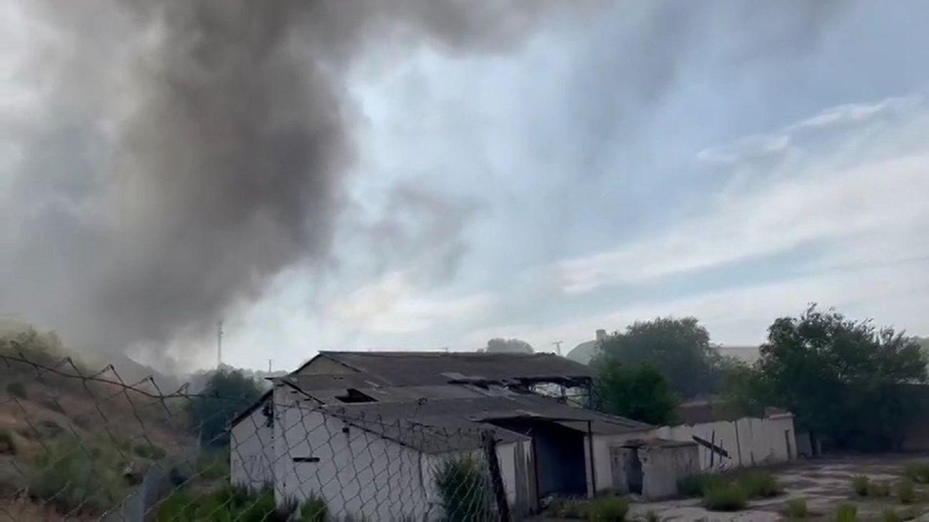 Un incendio en Loeches