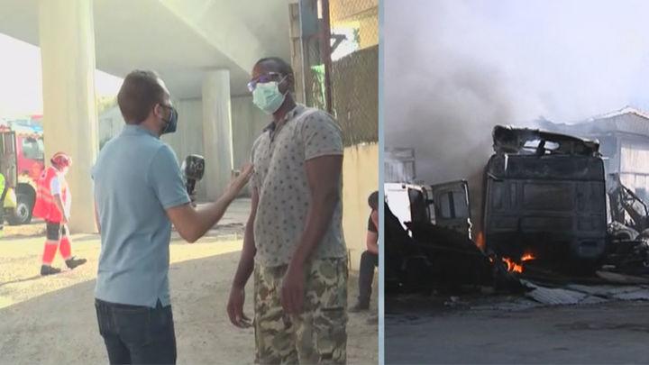 """Ismael, afectado por el incendio en Loeches: """"He perdido todos mis camiones"""""""