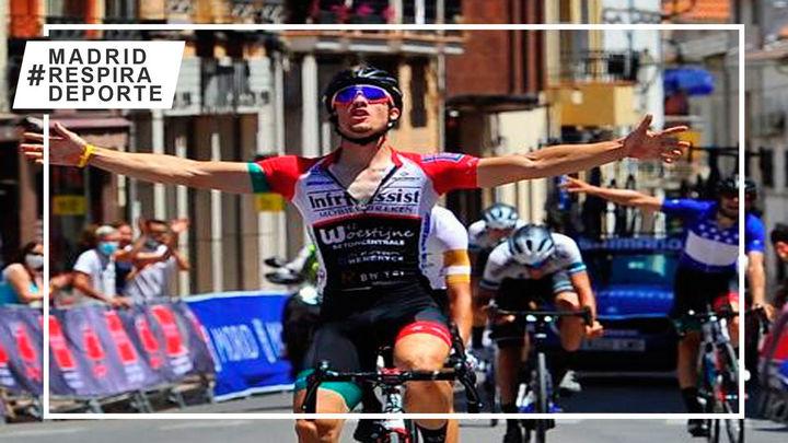 Robbe Claeys gana la cuarta etapa de la Vuelta a Madrid; Elías Maris, nuevo líder