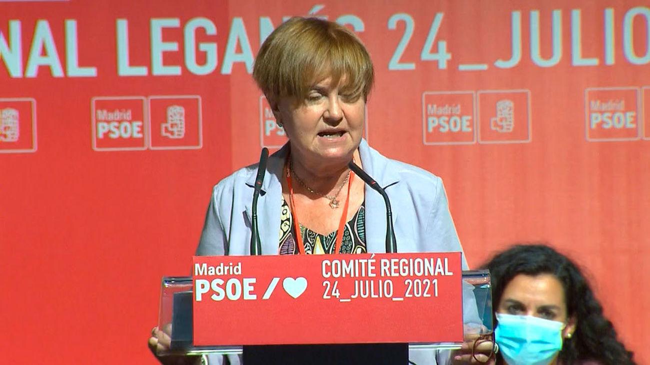 La presidenta de la Gestora del PSOE-M, Isaura  Leal