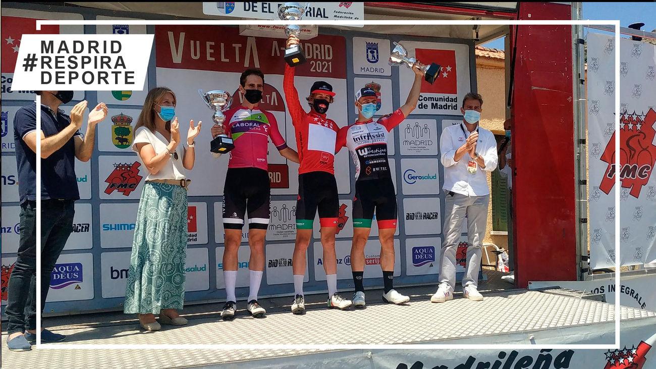 Podio de la Vuelta Ciclista a Madrid Sub'23