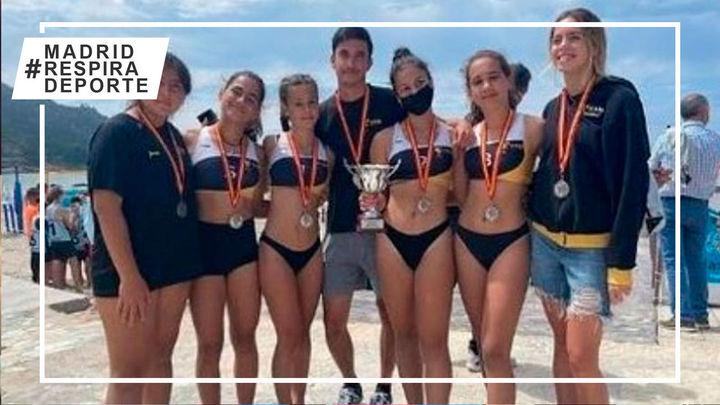 VP Madrid femenino, subcampeón de España de vóley playa Infantil