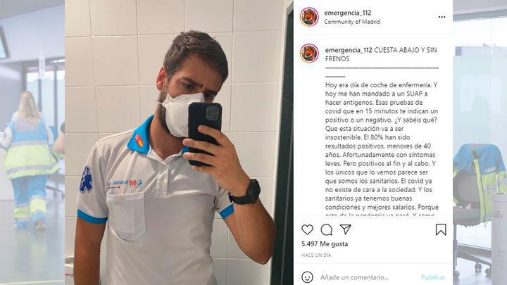 Jorge Prieto, el enfermero del Wanda que se hizo famoso por un vídeo viral