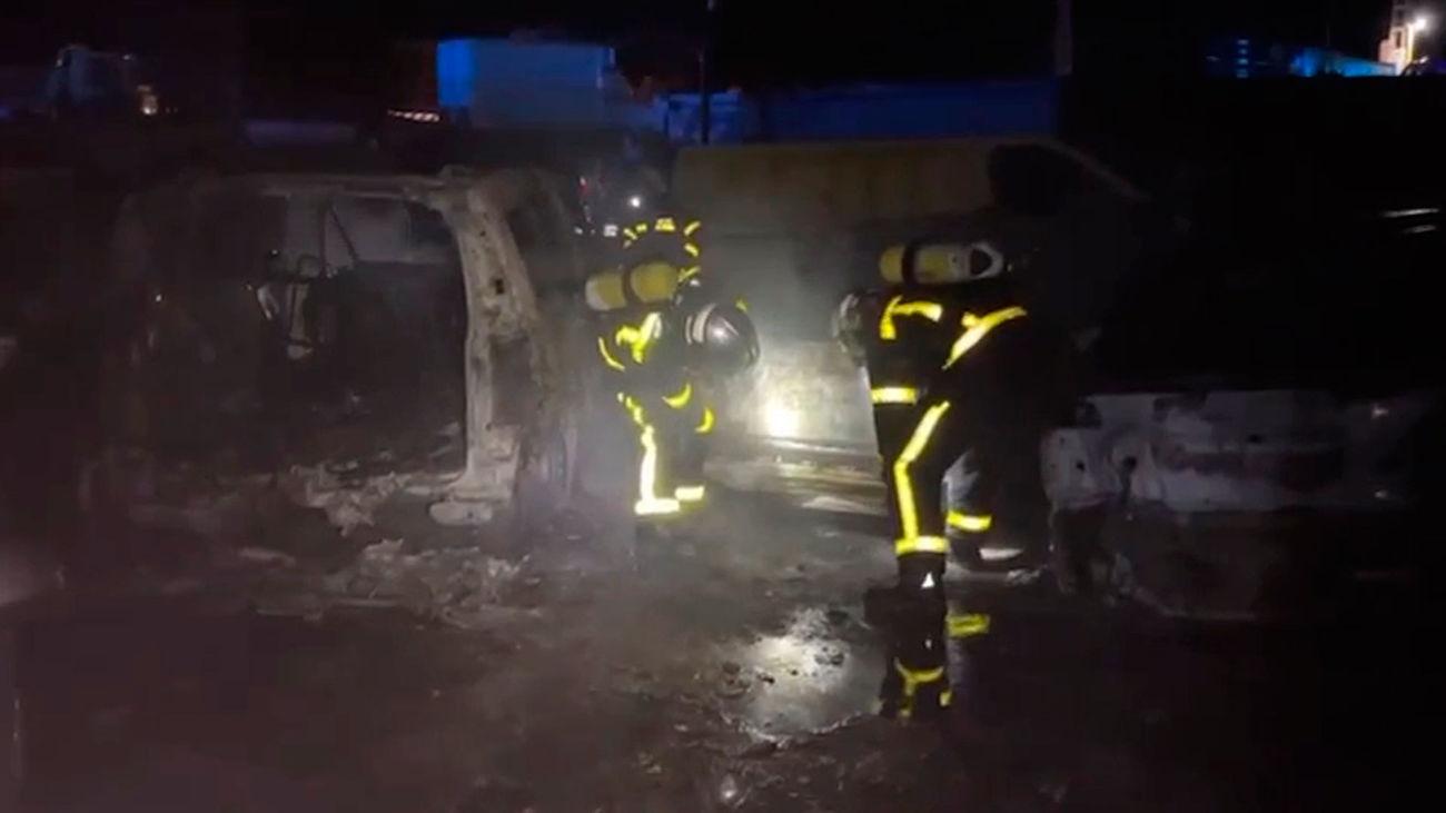 incendio en un depósito de coches de Valdemorillo