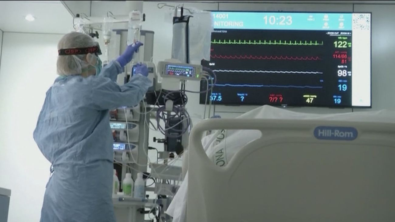 Paciente de Covid en la UCI