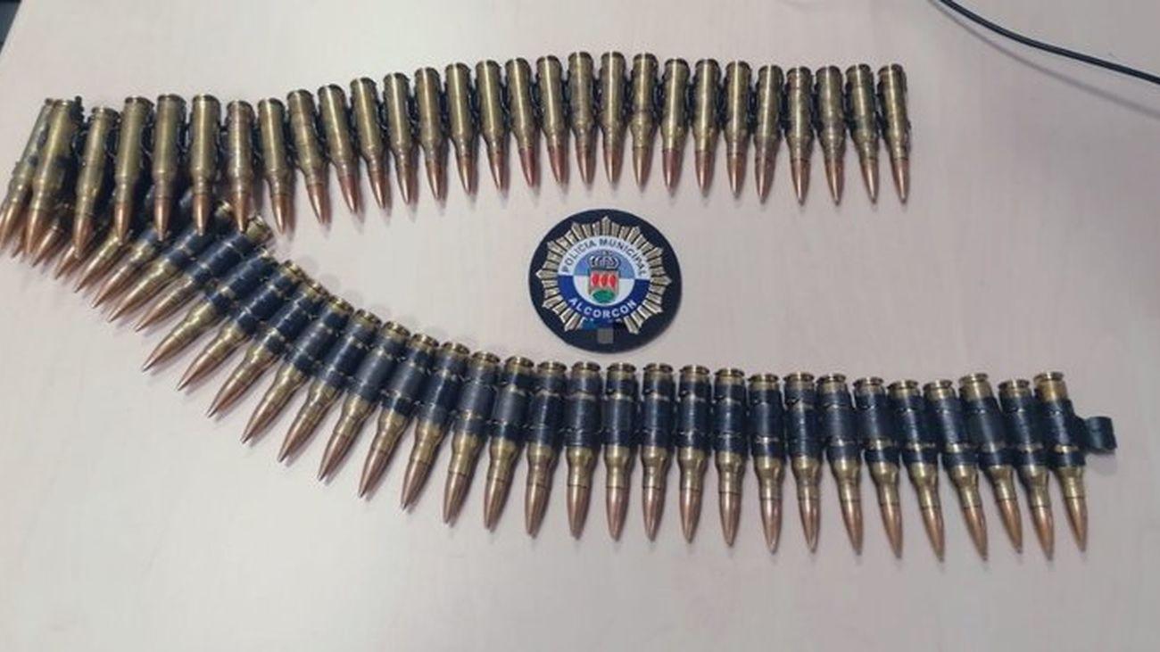 Balas de fusil intervenidas por la Policía Local de Alcorcón