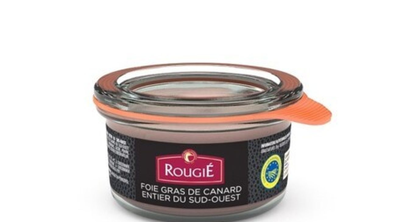 Envase de foie gras de la marca Rougié