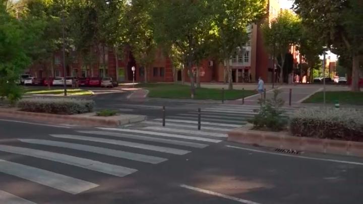 Denuncian un paso de peatones 'conflictivo' en Getafe
