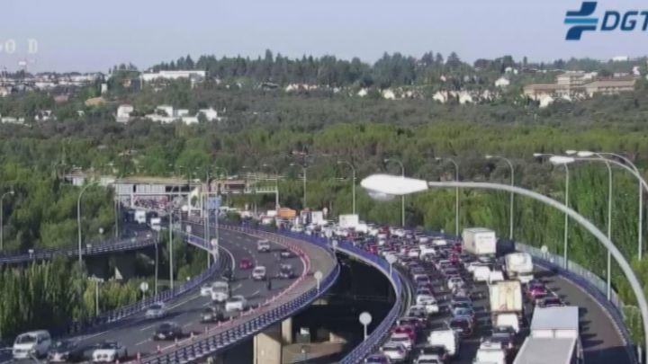 Tráfico complicado en las entradas a Madrid por varios incidentes