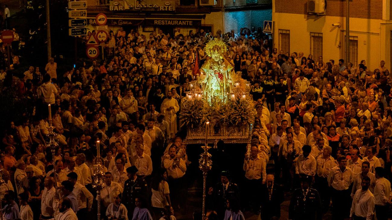 Procesión de la Virgen de la Consolación en Pozuelo de Alarcón