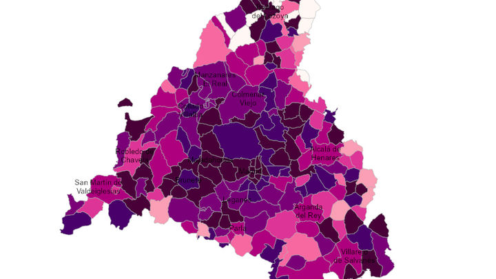 El mapa Covid de Madrid a 28 de julio