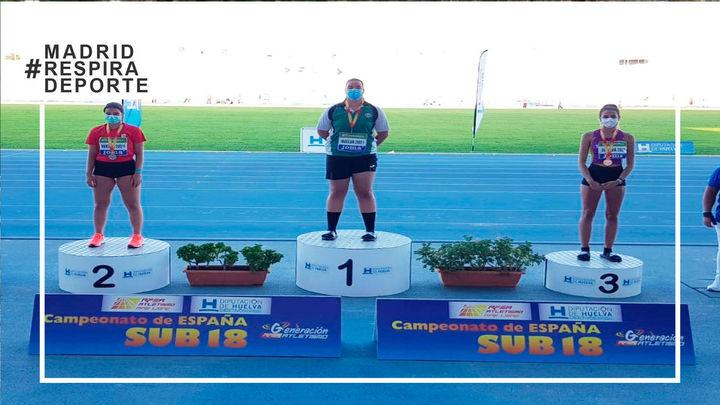 La torrejenera Judith Vaquero, bronce en el Campeonato de España sub'18 en lanzamiento de disco