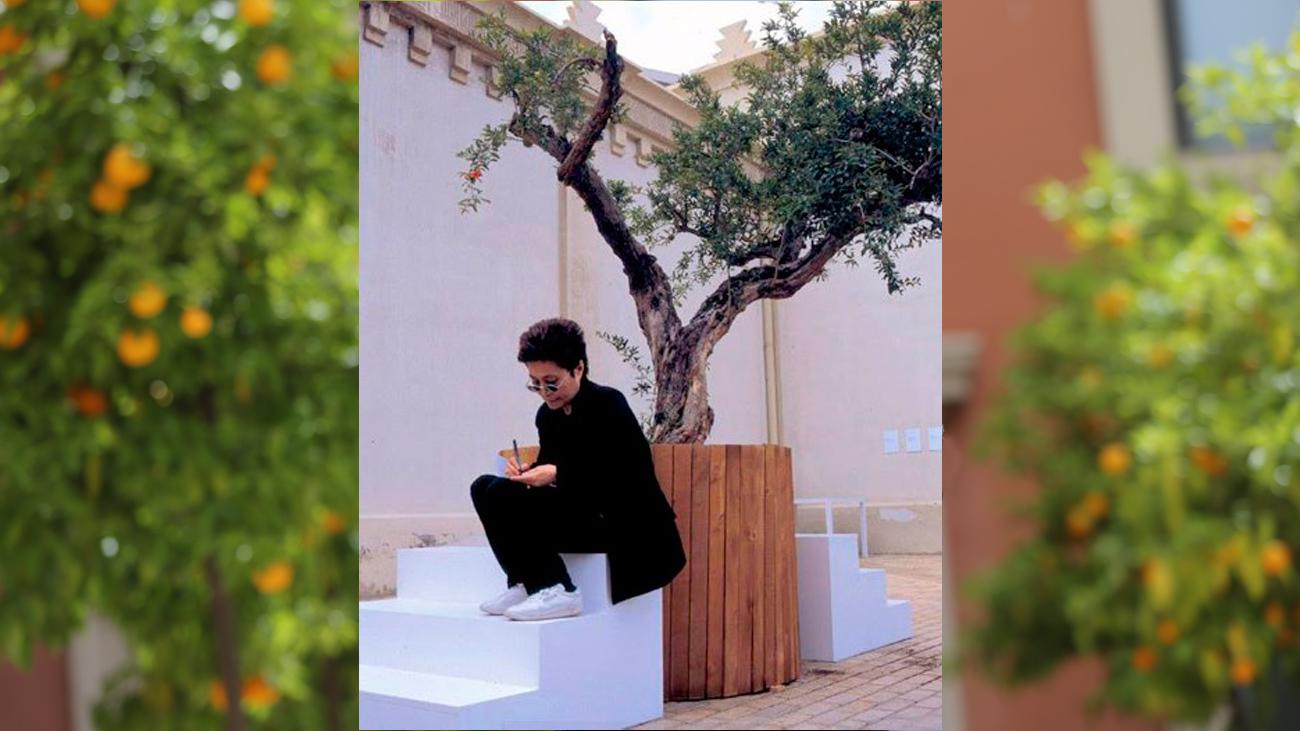 Yoko Ono presenta su proyecto 'Wish Tree'