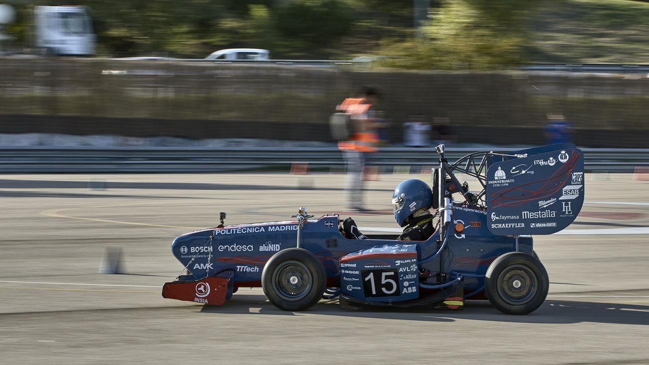 El bólido eléctrico de la Politécnica en la última edición del campeonato Formula Student