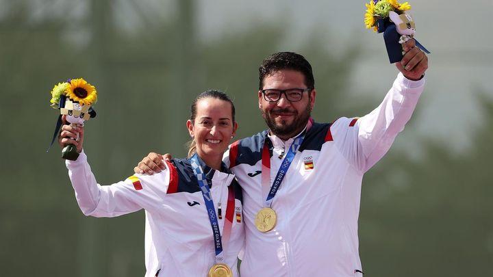 Fátima Gálvez y Alberto Fernández, medalla de oro  en tiro en Tokio