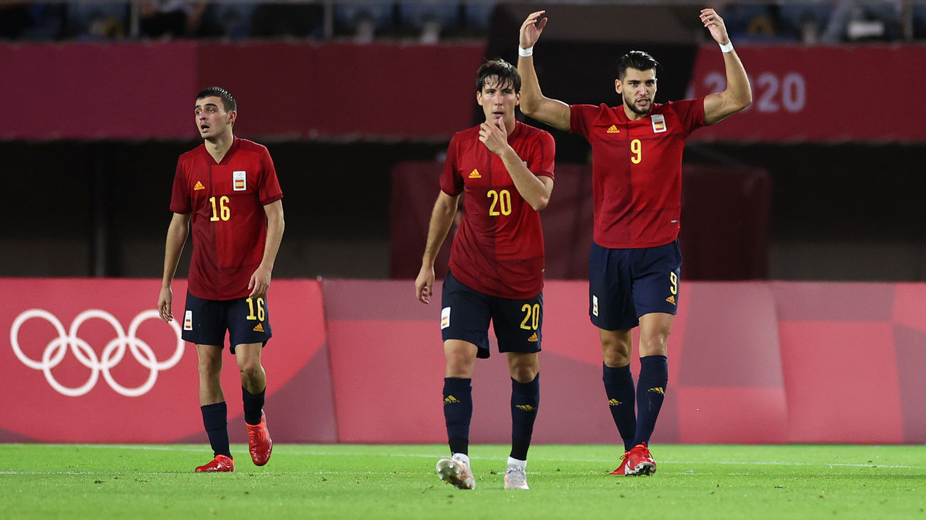 5-2. España se mete en semifinales con triplete de Rafa Mir