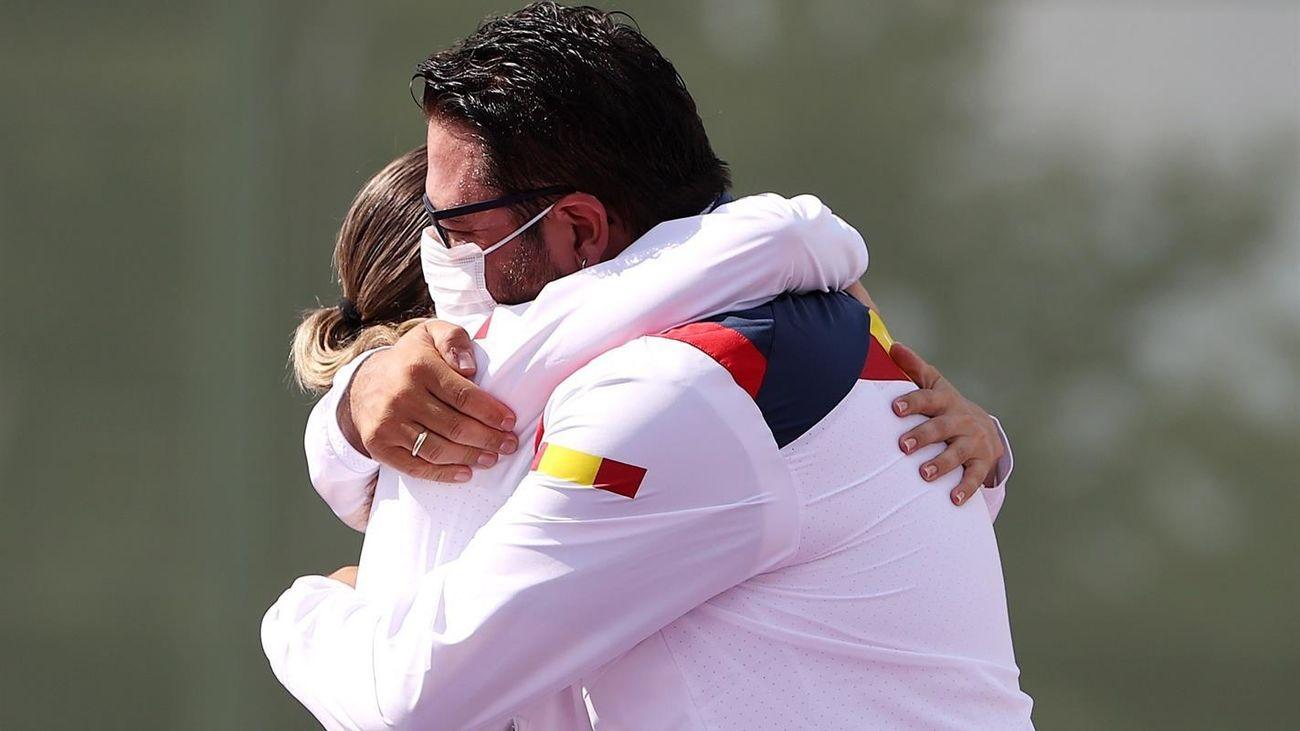 Ayuso y Almeida felicitan al madrileño Alberto Fernández y a Fátima Gálvez por su medalla de oro en Tokio
