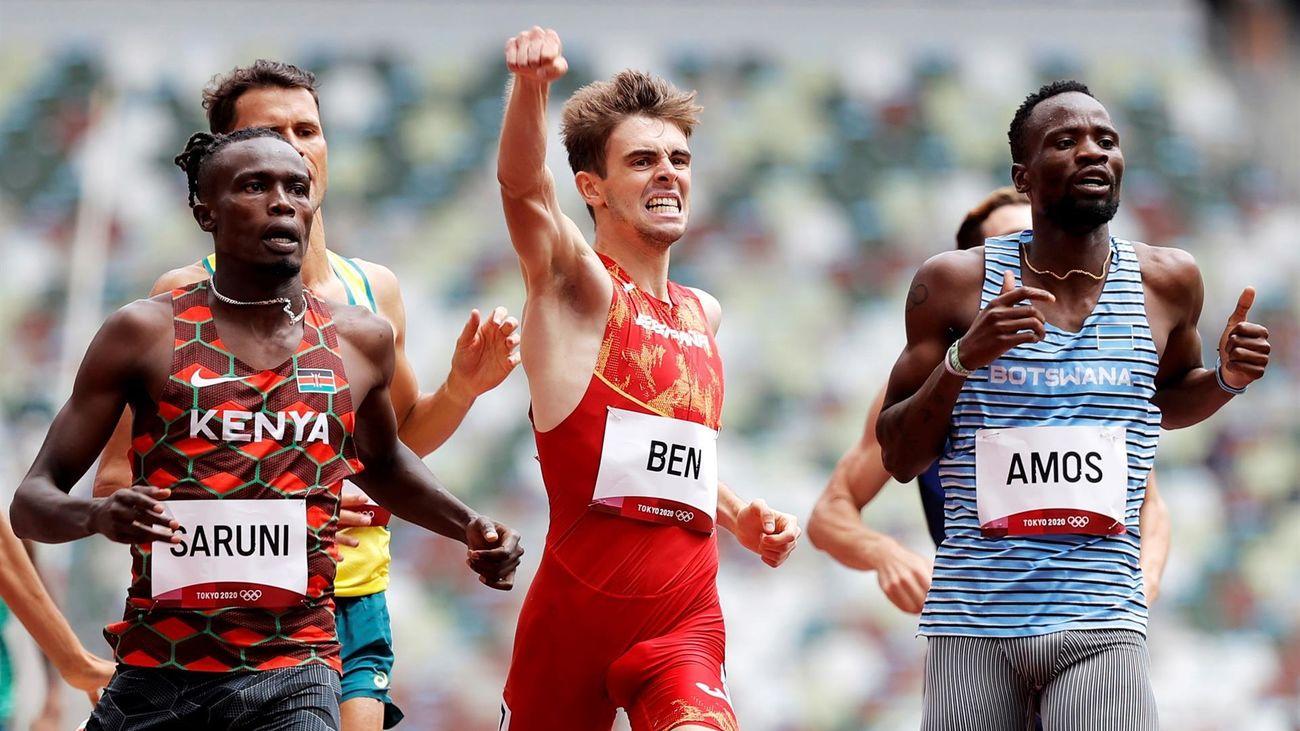 Nuevo hito histórico de Adrián Ben, primer español en una final olímpica de 800