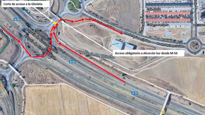 Inician la reconstrucción de la glorieta de Ronda de Naciones Unidas en Alcorcón