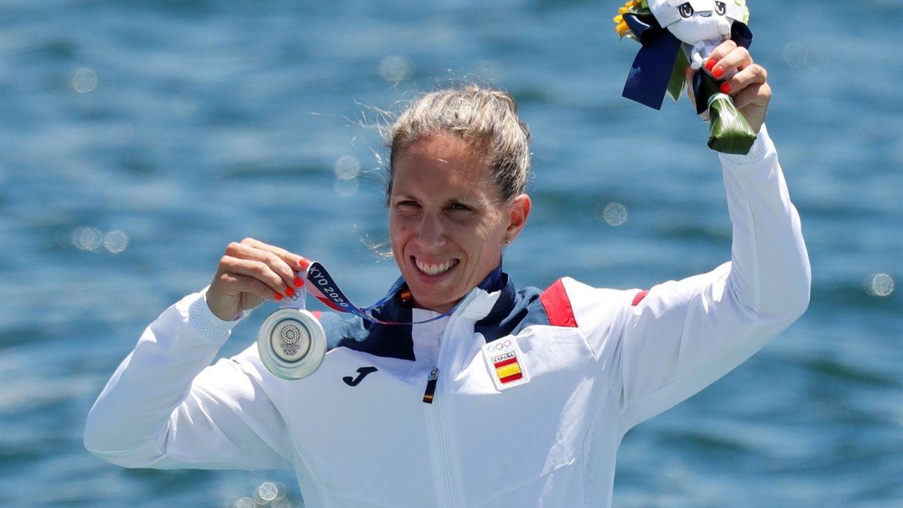 Teresa Portela se cuelga en piragüismo una histórica plata a la perseverancia