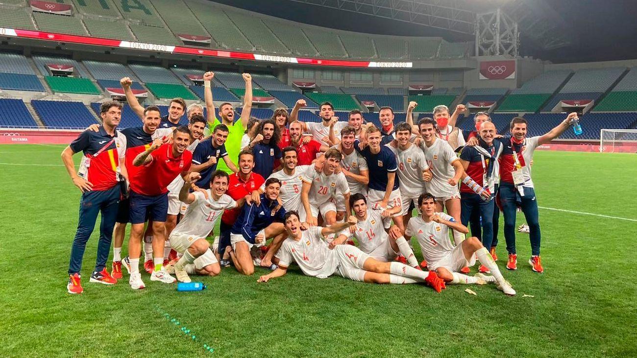 0-1. España gana en la prórroga a Japón y se cita con Brasil en busca del oro