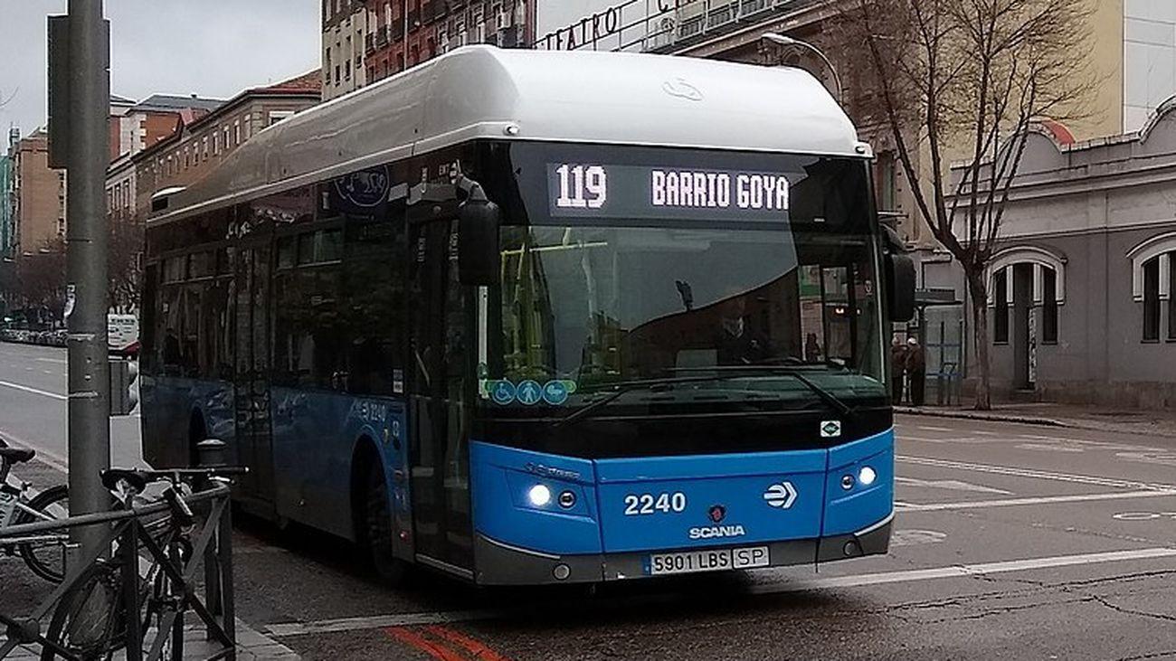 Autobús de la línea 119 de la EMT