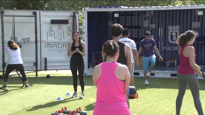 Cubo Gym Madrid, deporte al aire libre en Madrid Río este agosto