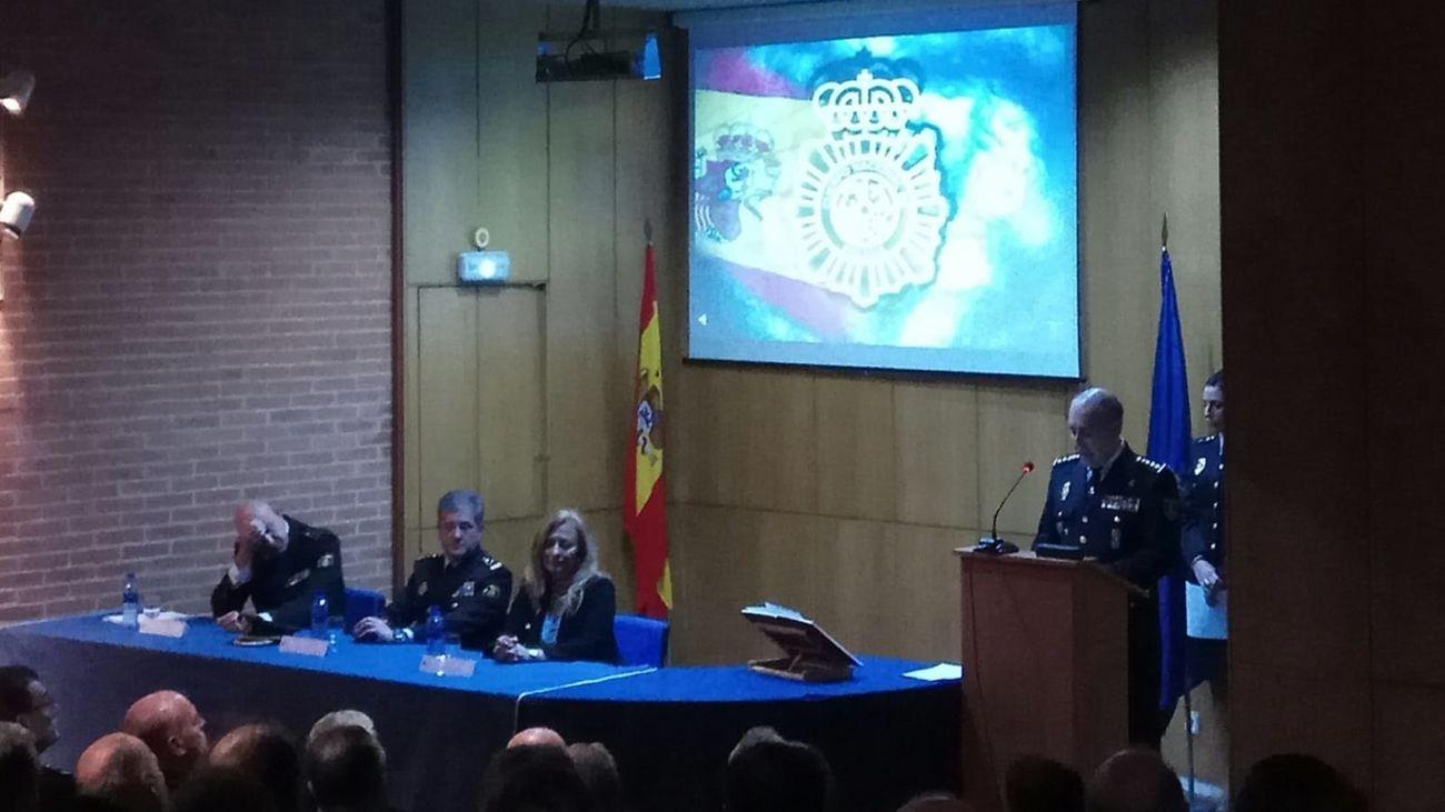 Juan Francisco Espinazo, en el acto en el que fue nombrado en 2018 como jefe regional de Operaciones de la Policía Nacional