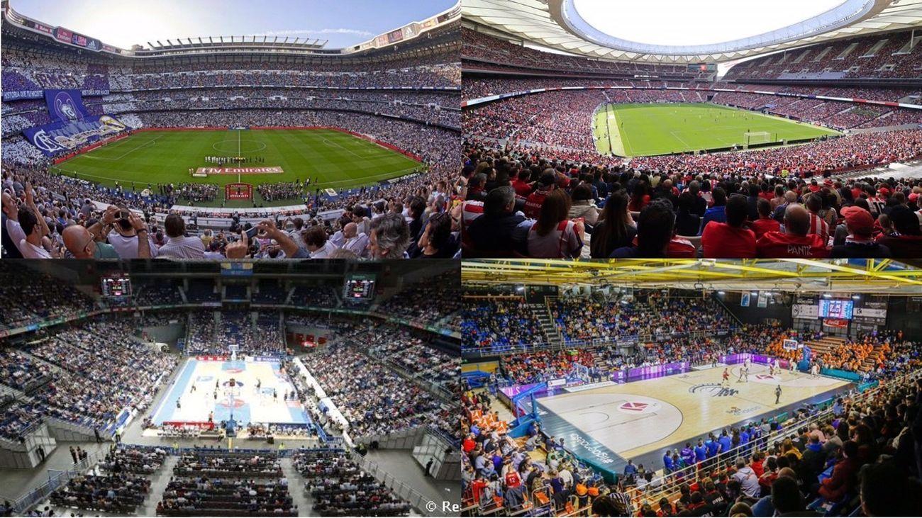Bernabéu, Metropolitano, Pabellón Fernando Martín y Palacio de Deportes