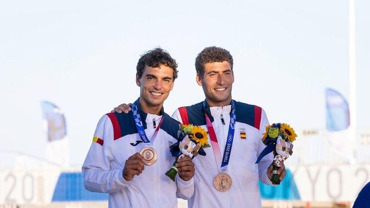 Xammar y Rodríguez, medalla de bronce en vela en el 470