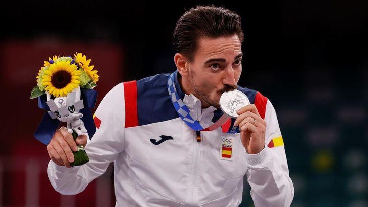 Damián Quintero, medalla de plata en katas